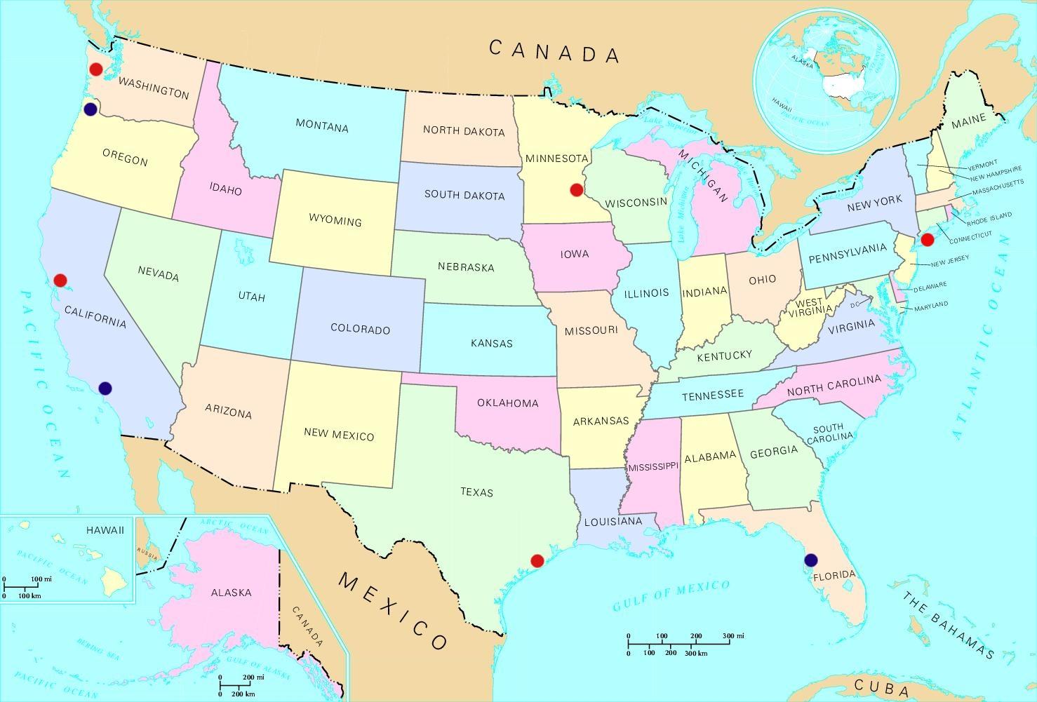 Minneapolis On Us Map | World Map Gray