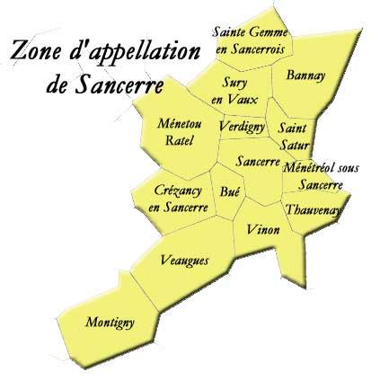 Sancerre France Map.French Wine A Day Sincere Sancerre